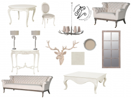 Example of our digital mood boards. These are accompanied with fabric and wallpaper samples where appropriate