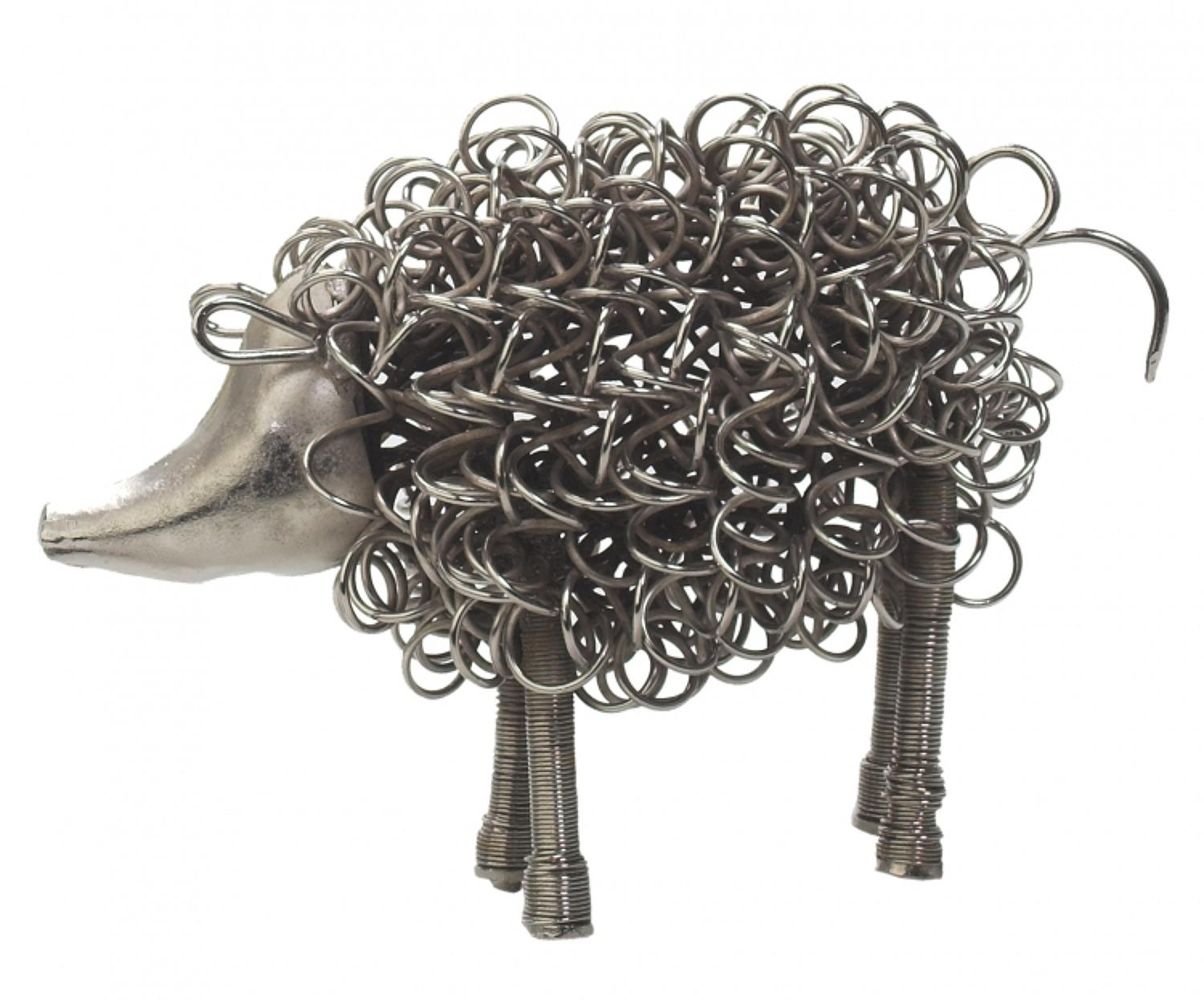 Silver wiggle pig, also available in a piglet