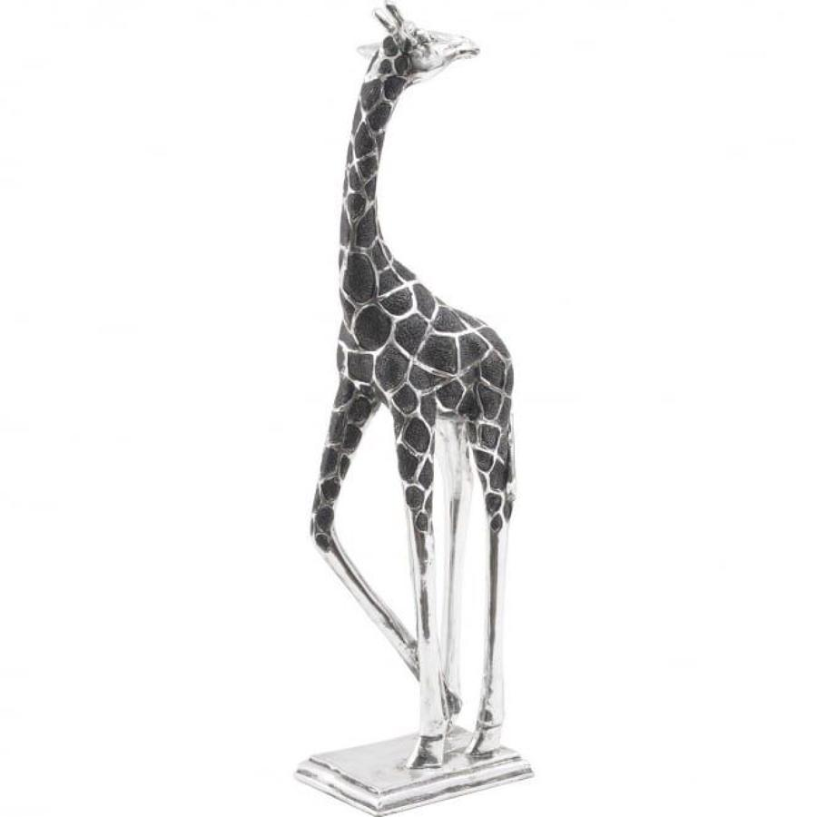 Black & silver giraffe, head back, available head forward.