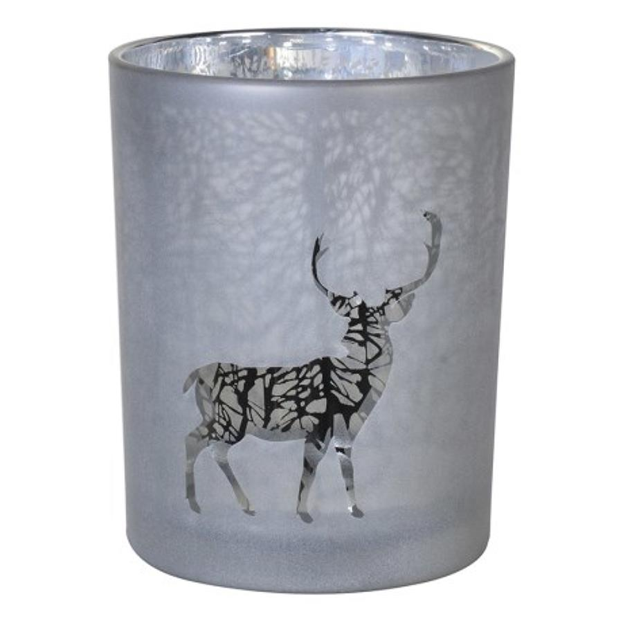 Large silver forest candle holder, also available in small