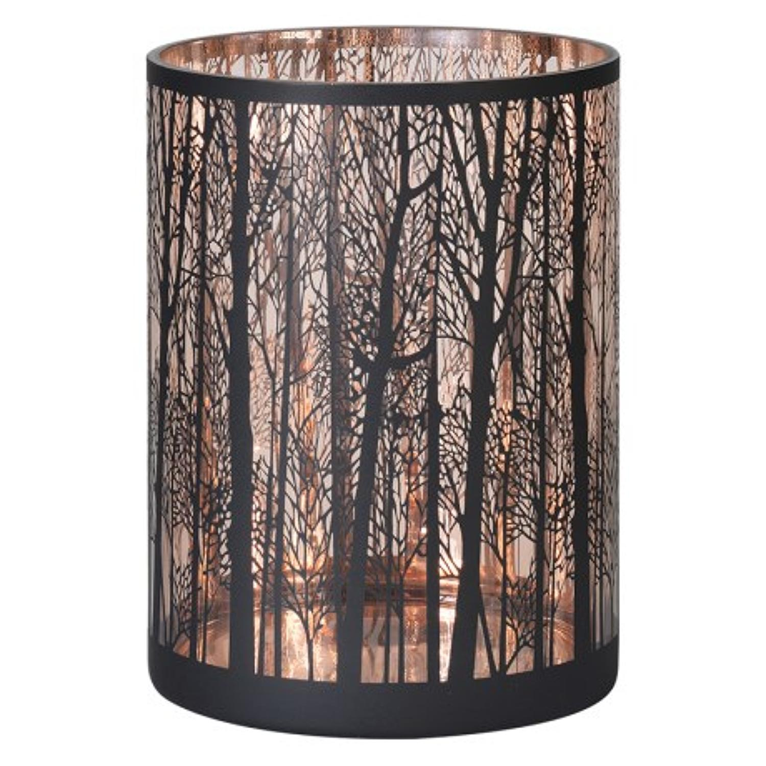 Large copper & black forest candle holder.