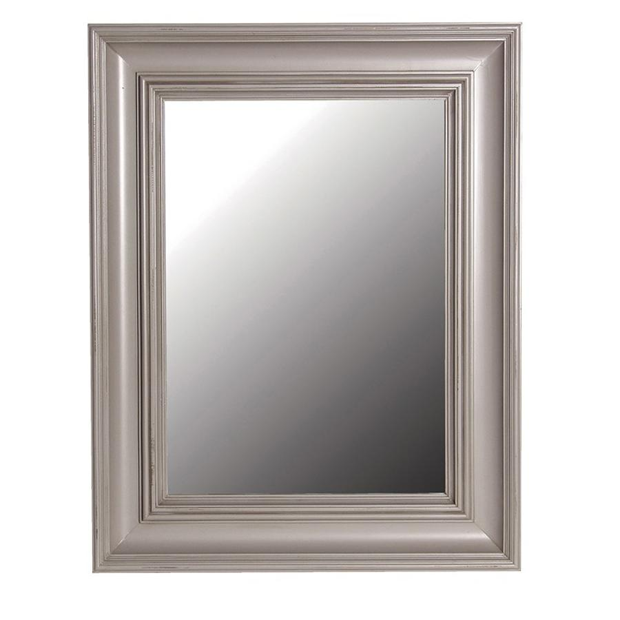 Distressed silver grey mirror