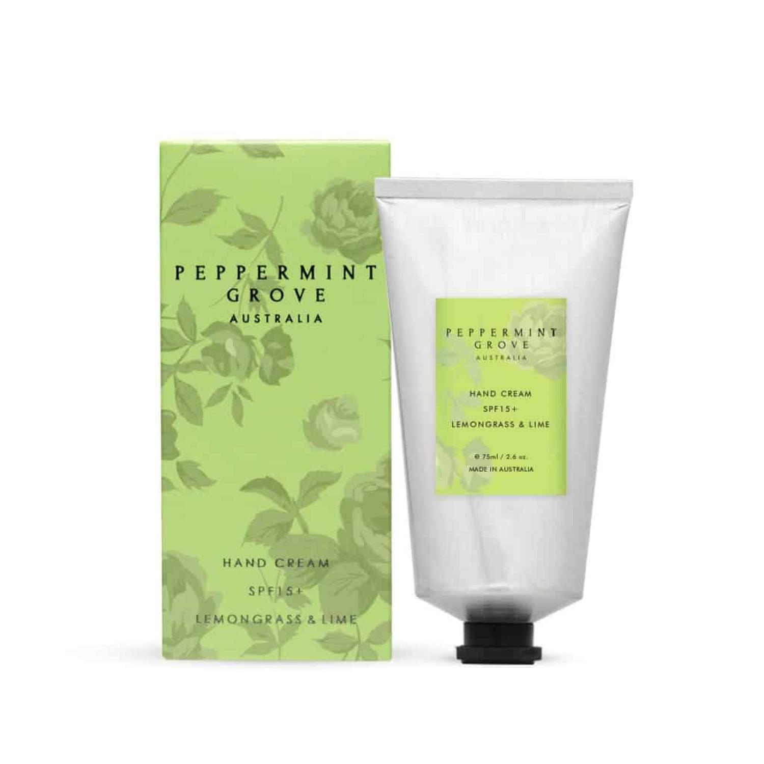 Lemongrass & Lime Handbag size, hand cream. SPF15. 75ml