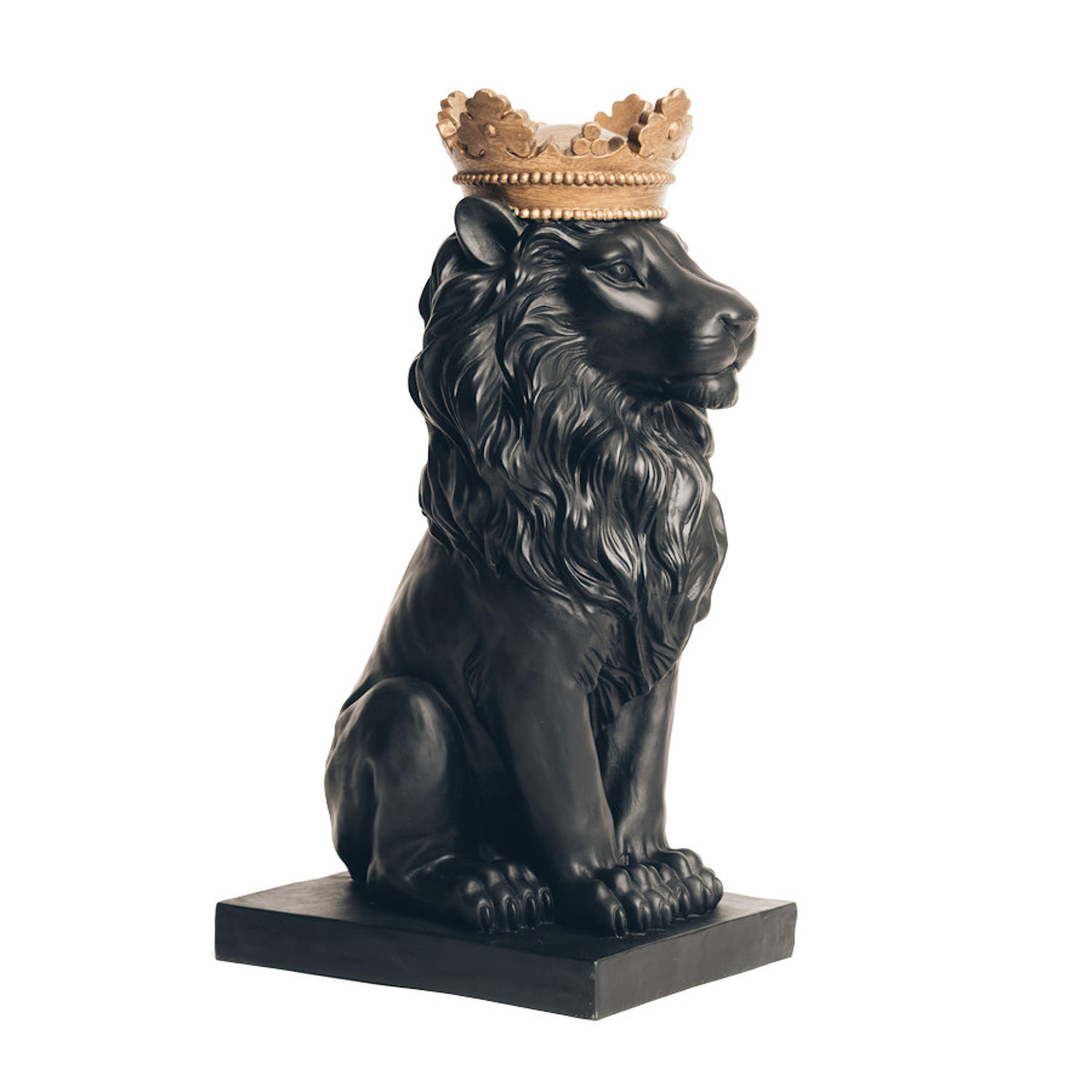 Majestic black and gold lion - looks fabulous as a pair