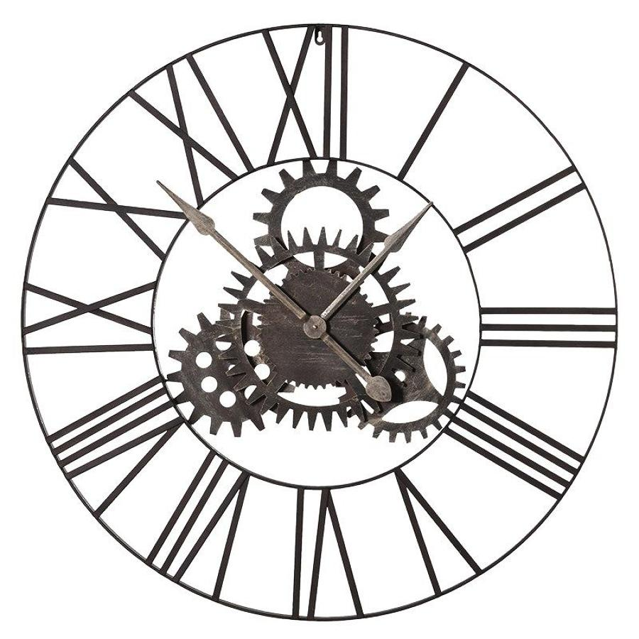 Open Cogs Metal Wall Clock