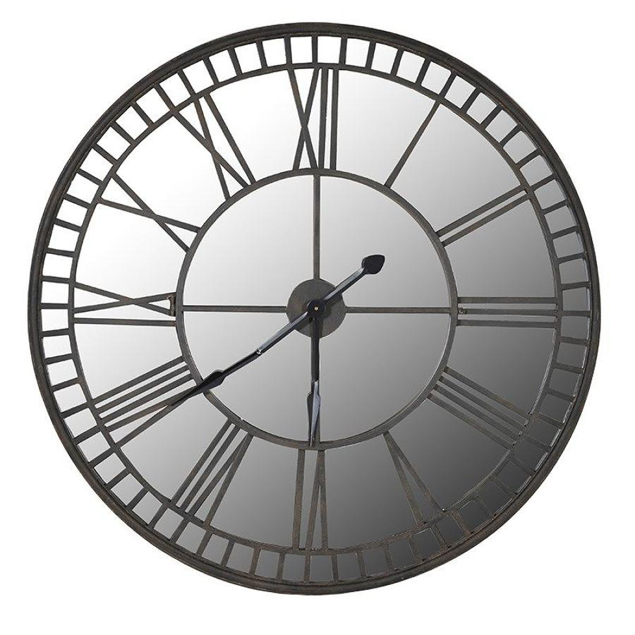 Oversized Mirrored Wall Clock