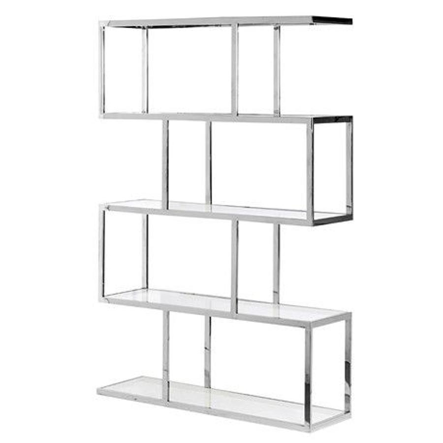 Metal and Glass Multi Shelf Unit