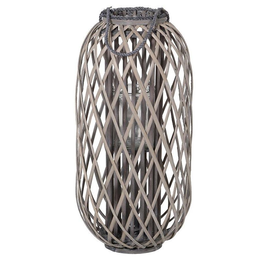 Small willow hurricane candle lantern