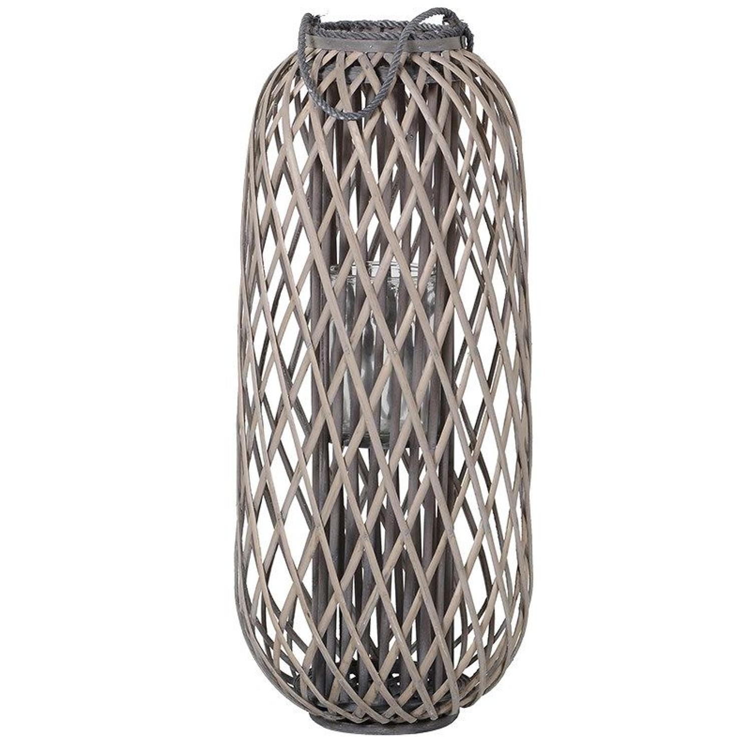 Large willow hurricane candle lantern
