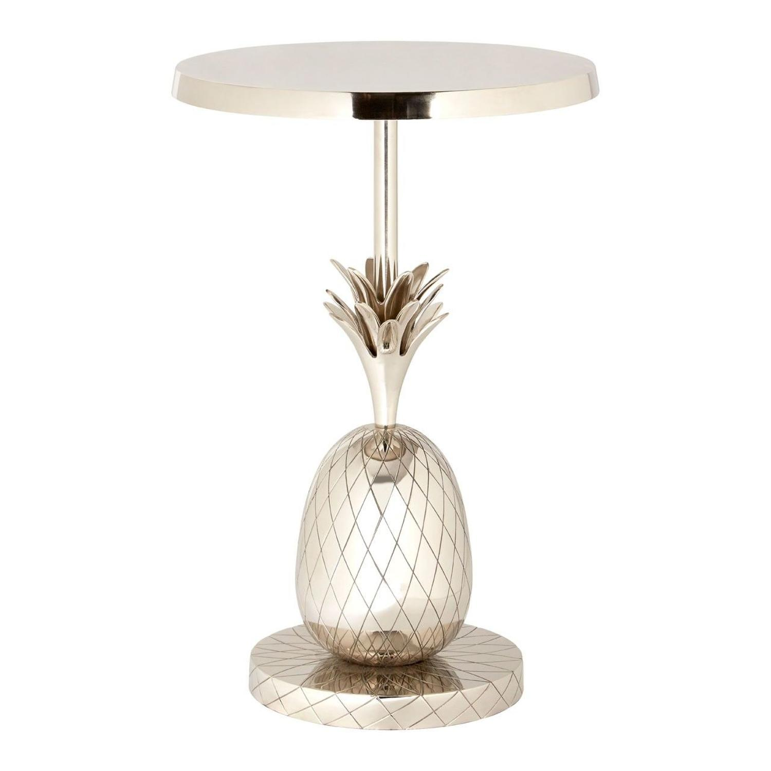 Silver pineapple base occasional table