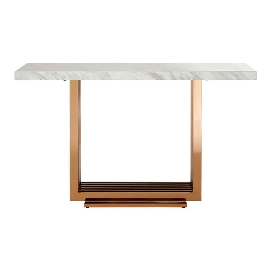 Marble and white console table