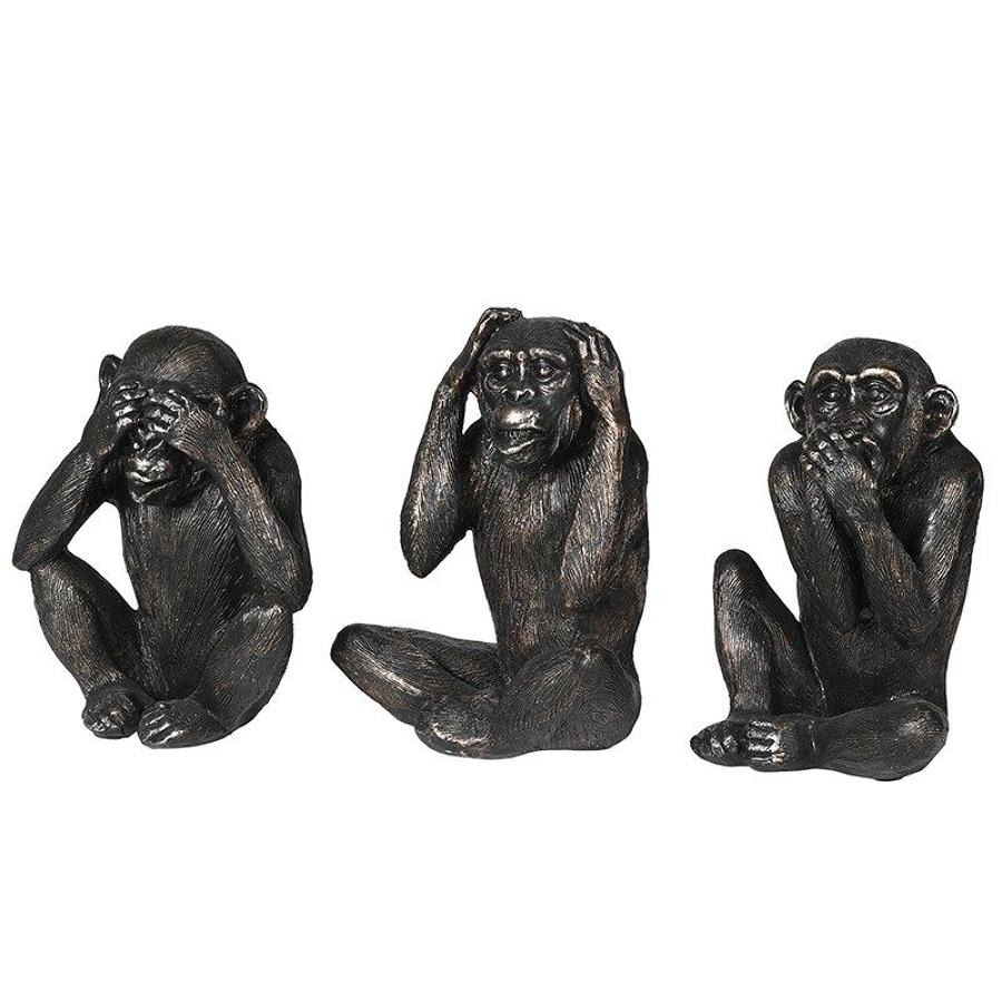 Set of no evil monkeys