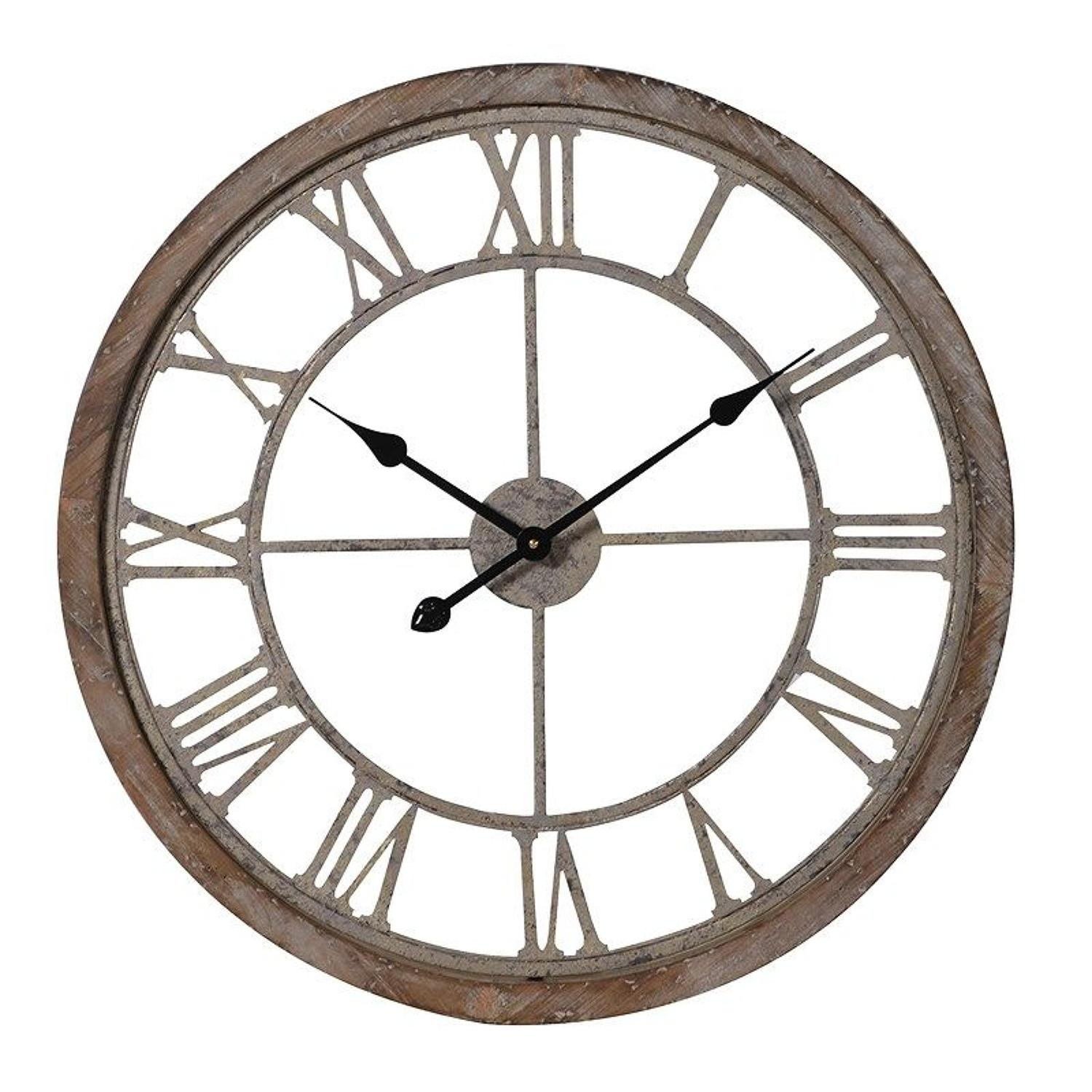 Wood & Metal Cut Out Clock