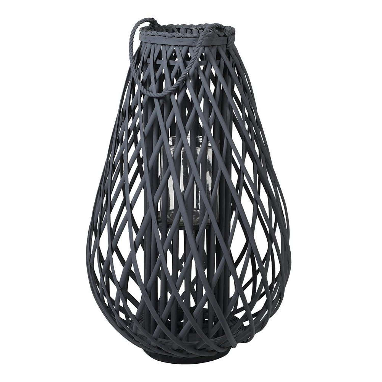 Large dark grey willow lantern