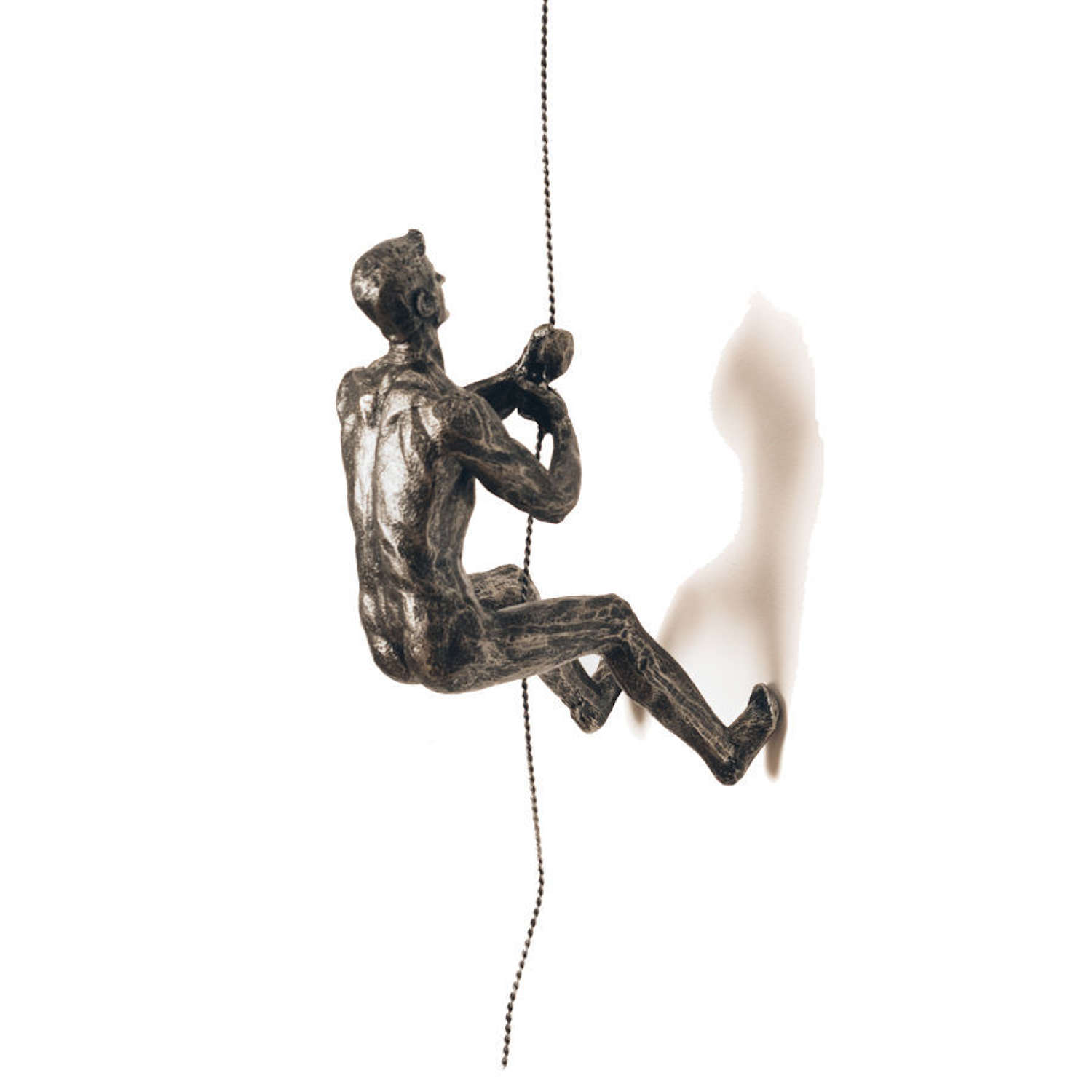 Silver Abseiling Man