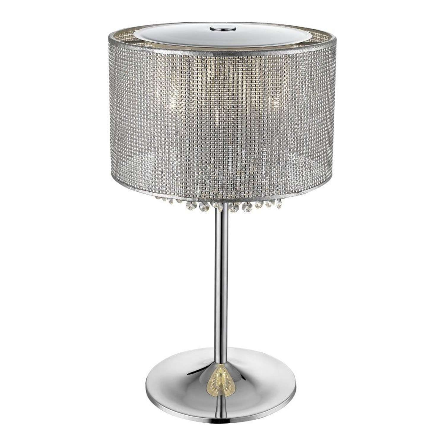 Stunning Table Lamp with Crystal Droplets