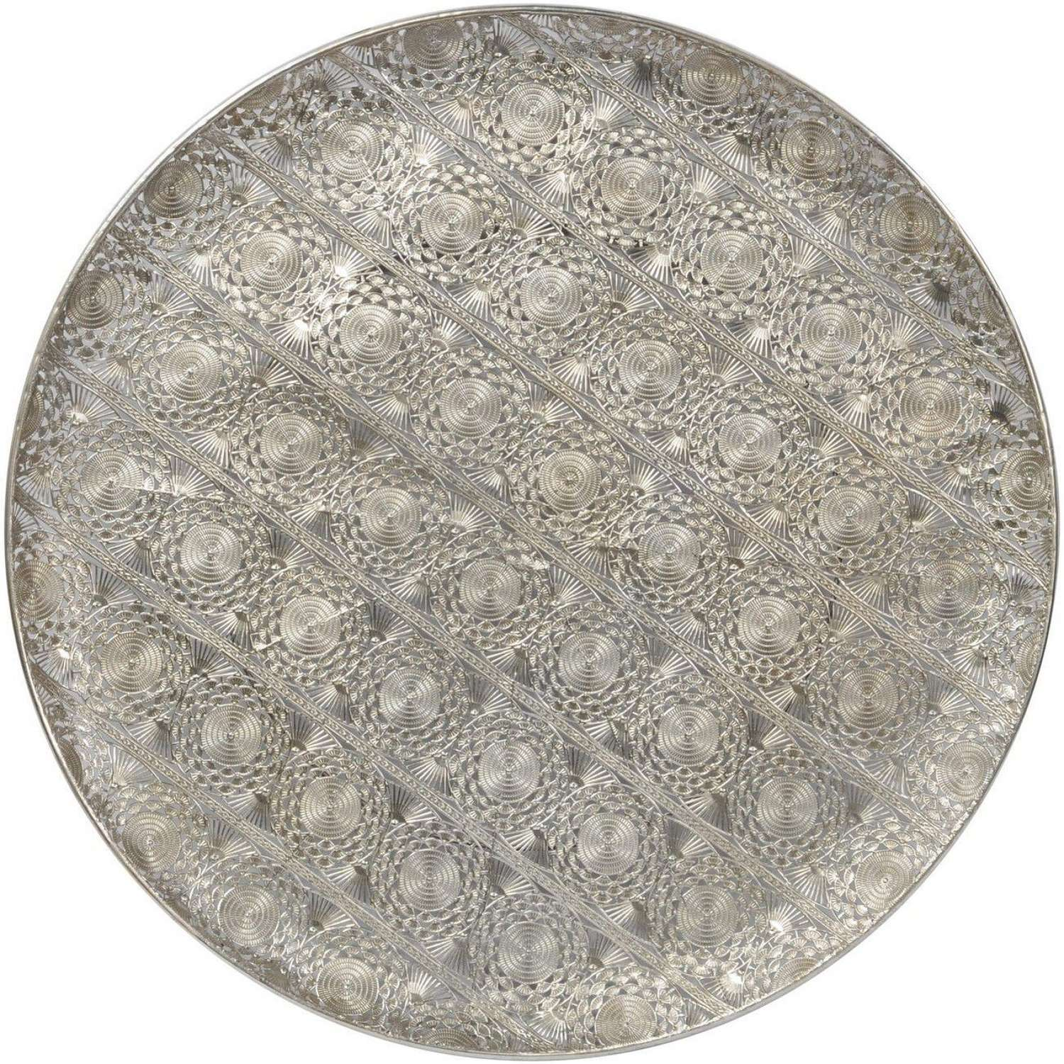 Large Filigree Wall Disc - Silver
