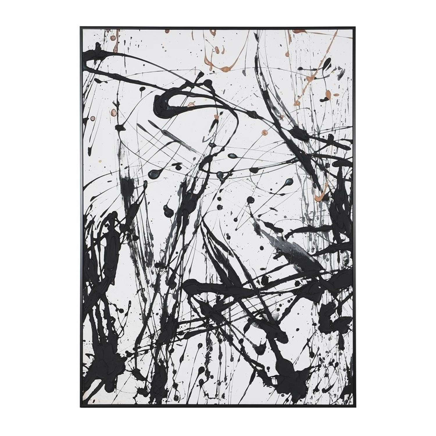 Huge Framed Abstract Artwork - Splatter Paint