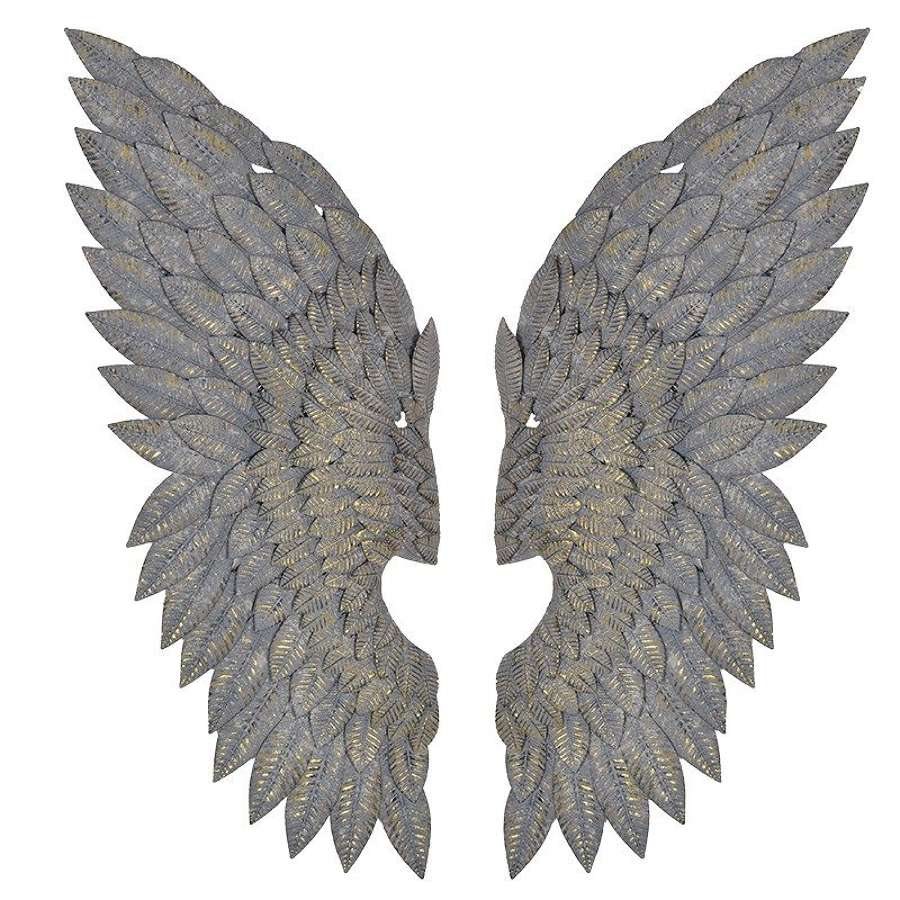 Wall Art - Feather Effect Metal Wings