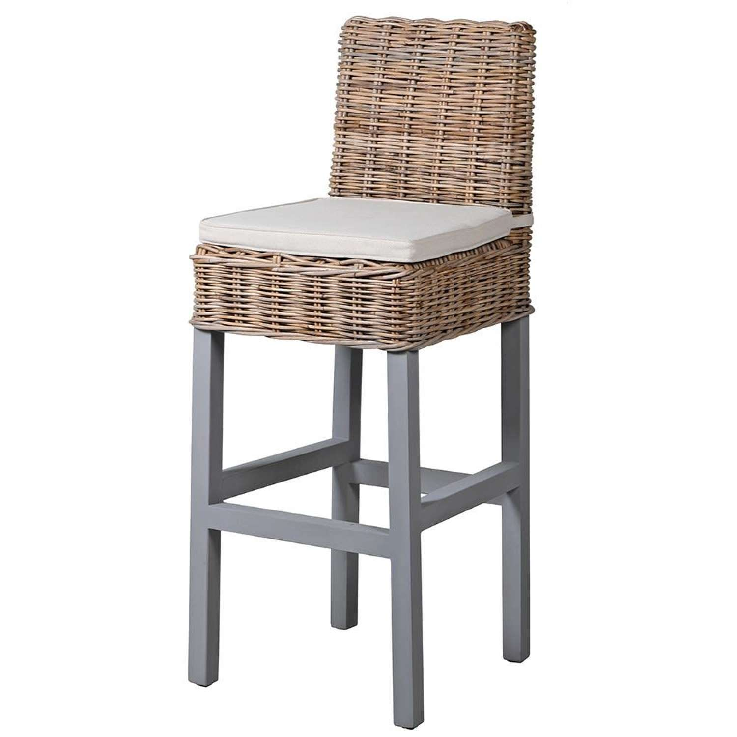 Country Style Bar Stool with Seat Pad