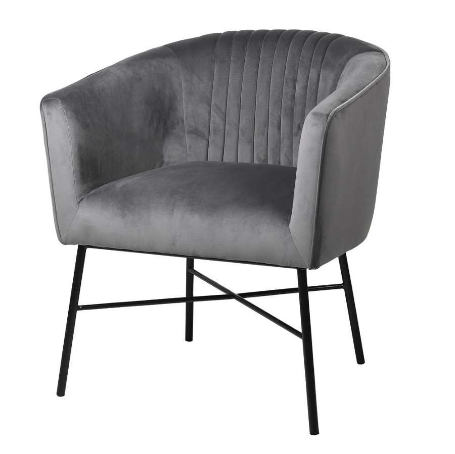 Grey Velvet Occasional Chair