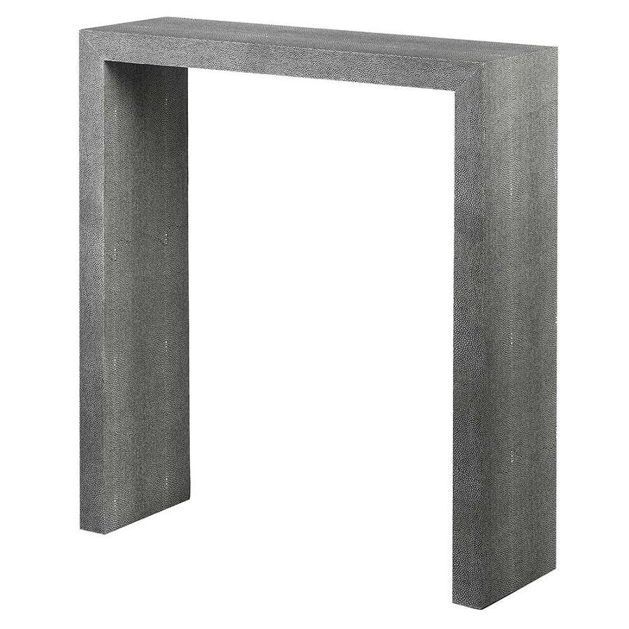 Plain Faux Shagreen Leather Console Table