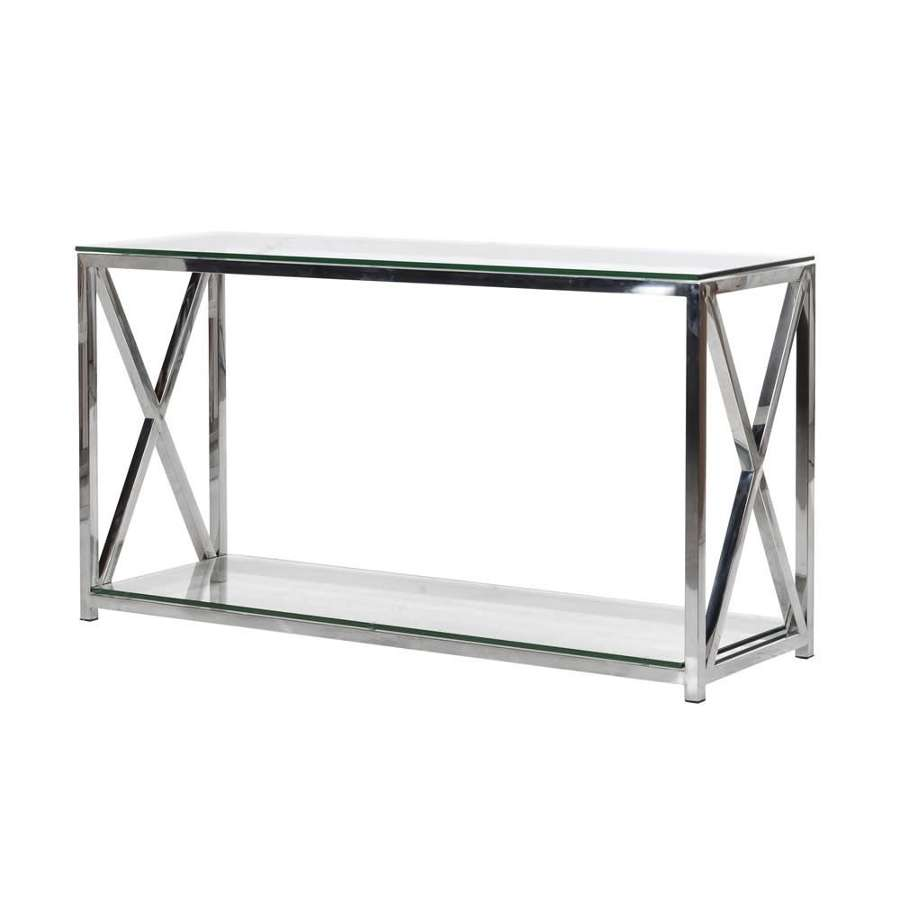 Stainless Steel X Frame Console