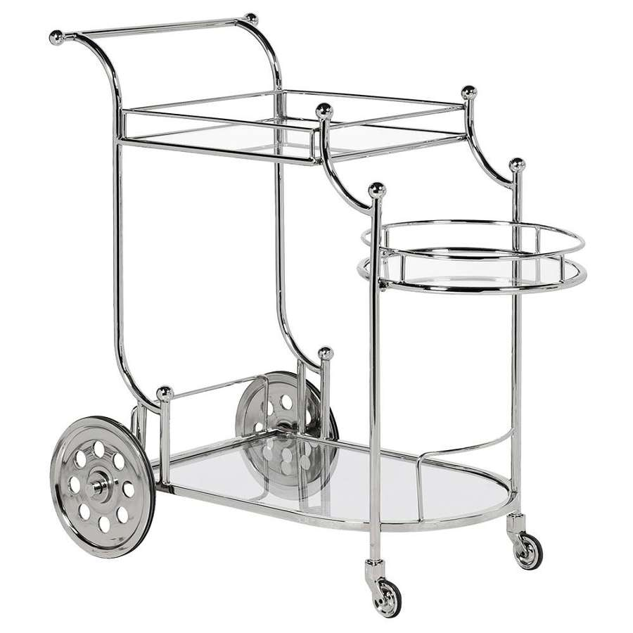 Vintage Silver Drinks Trolley/Bar Cart
