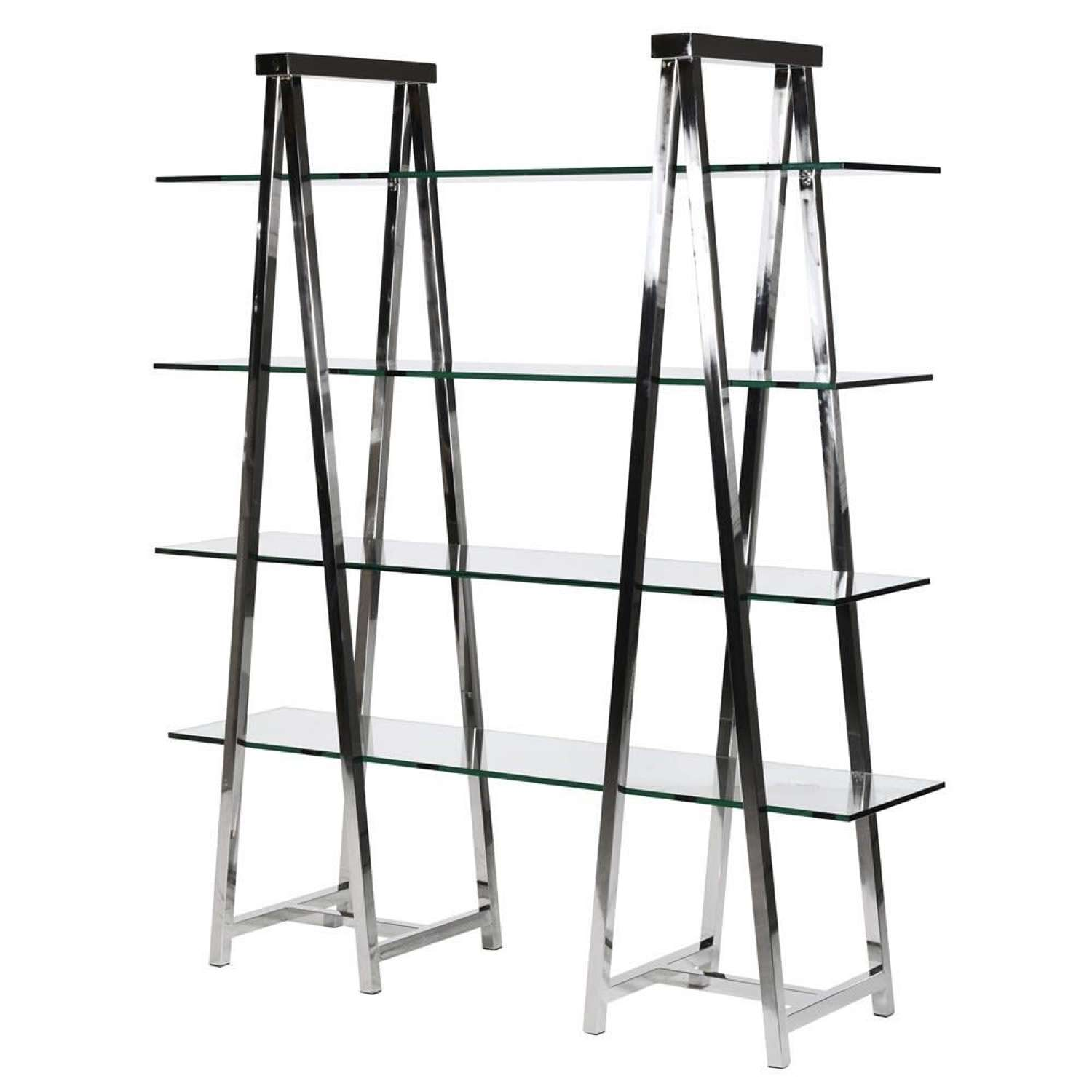 Double Trestle Unit - Stainless Steel and Glass