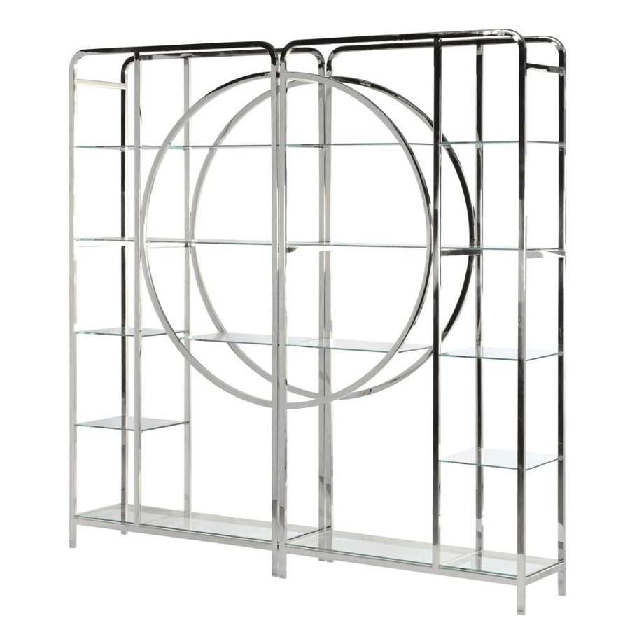 Large Stainless Steel Art Deco Style Unit