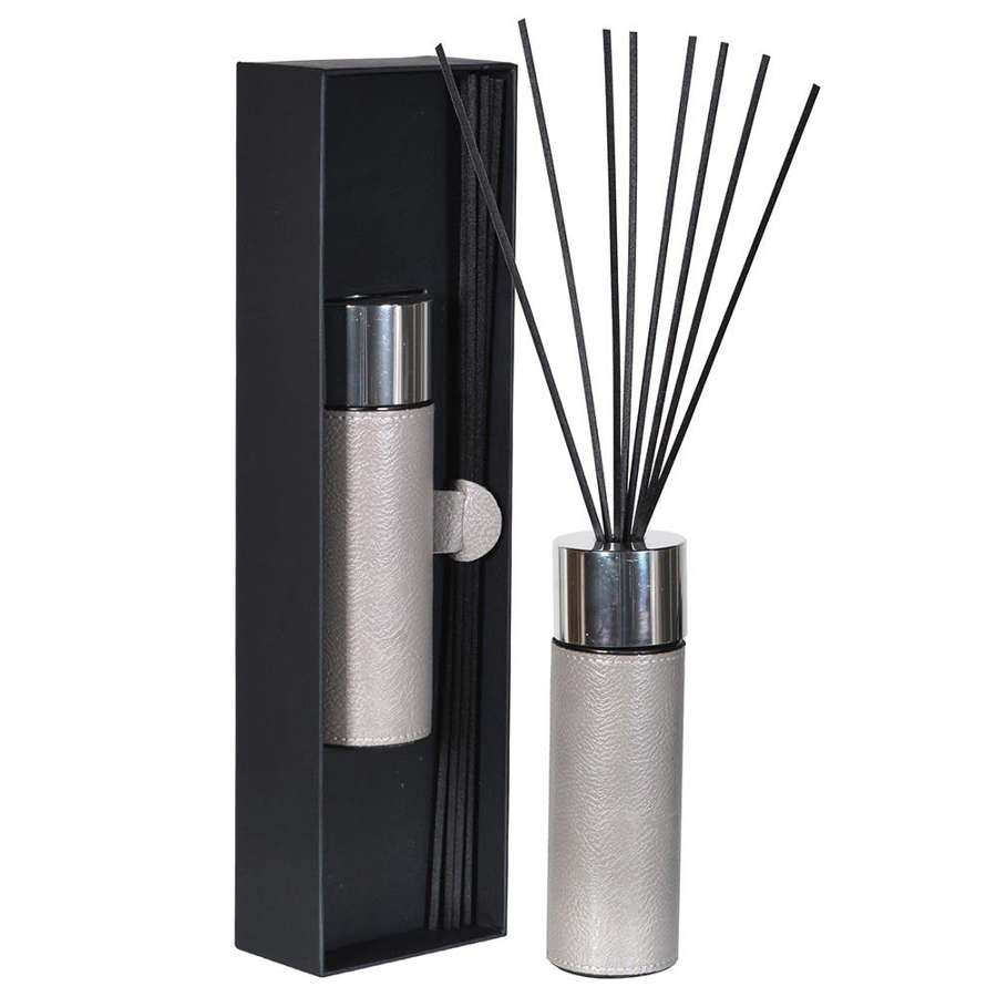 Grey Leather 120ml Diffuser - Gift Boxed