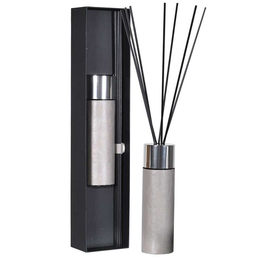 Grey Leather 430ml Diffuser - Gift Boxed