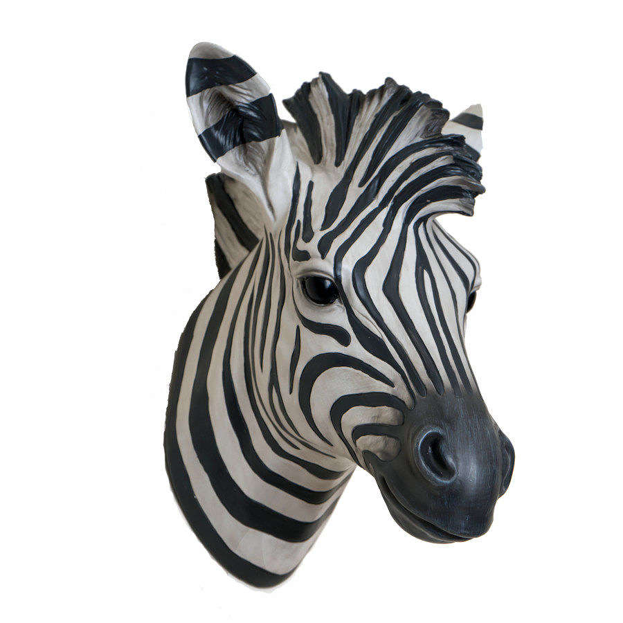 Ziggie - Decorated Zebra Head Wall Art