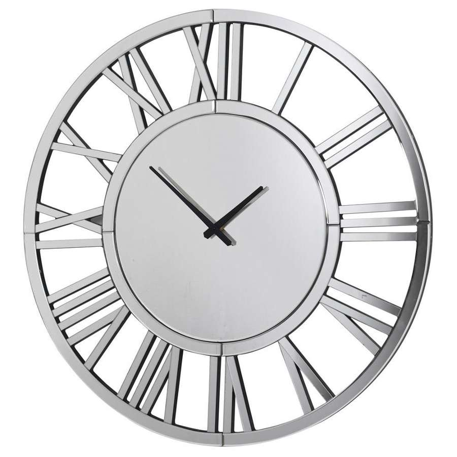 Mirrored Roman Numeral Clock