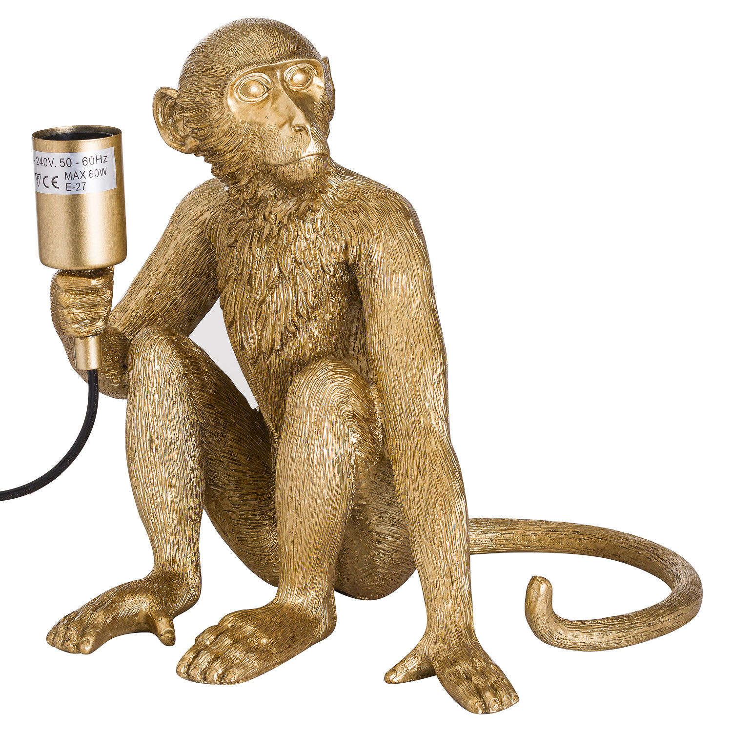 Henry. Gold Monkey Table Lamp