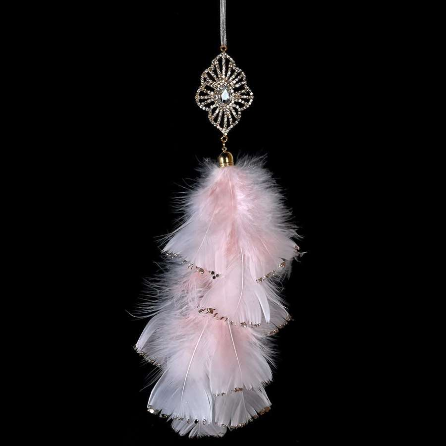 Hanging Pink Feather Decoration