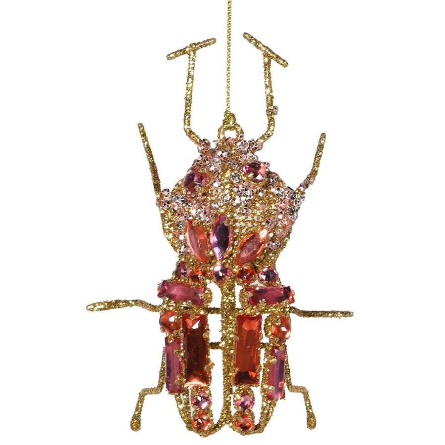 Pink be-jewelled hanging beetle
