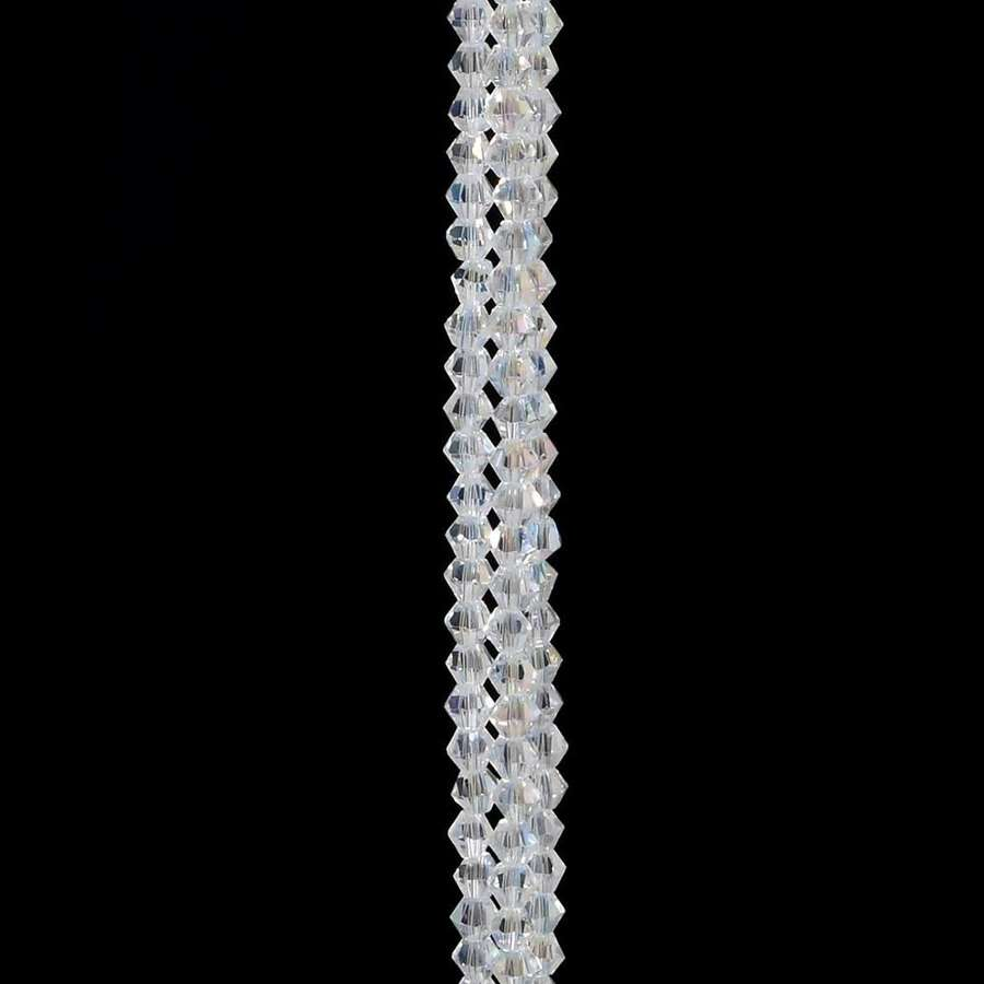 Extra long silver gem hanging decoration