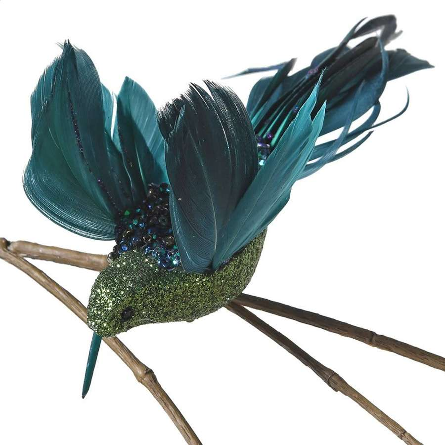 Green glitter hummingbird