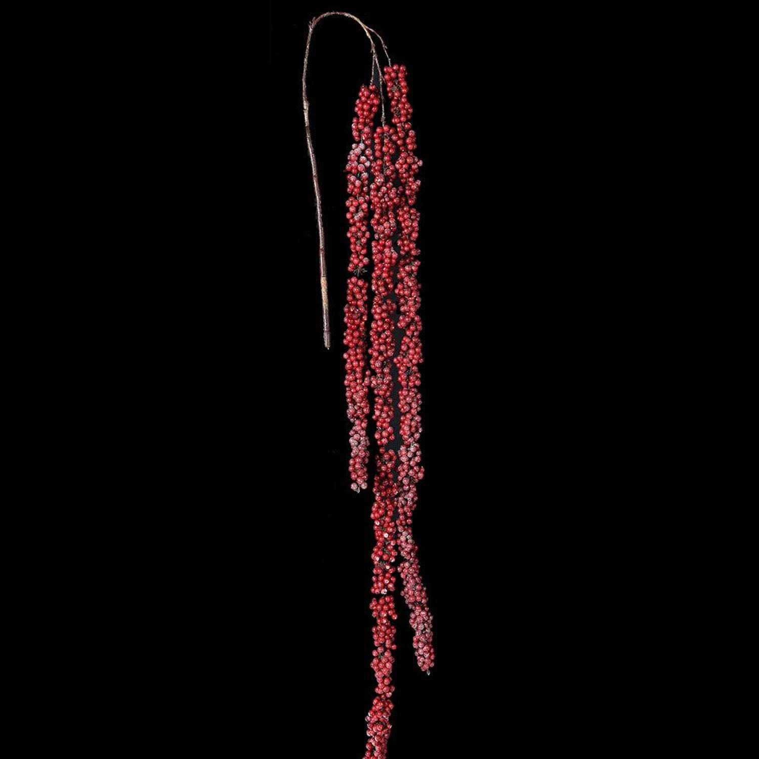 Long red glitter berry hanging vine