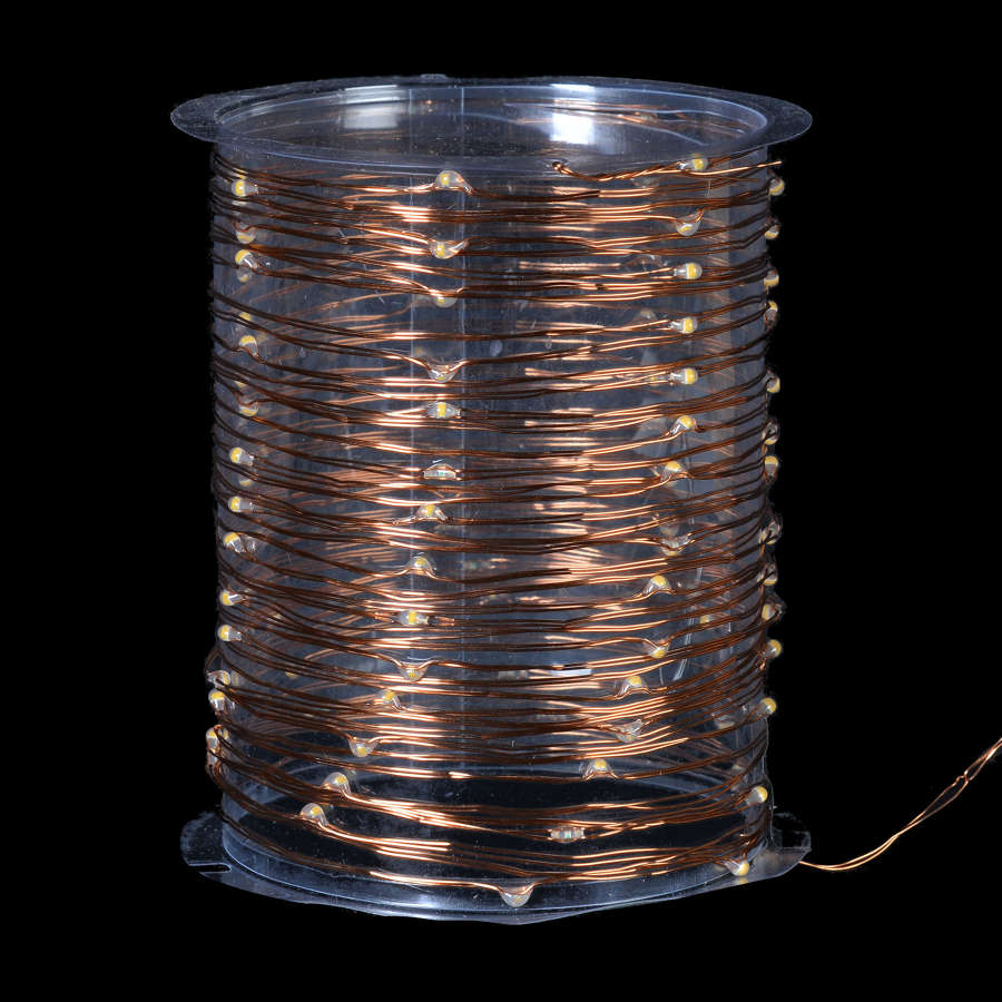 Reel of 100 rice lights - 990cm long (Copper Wire)