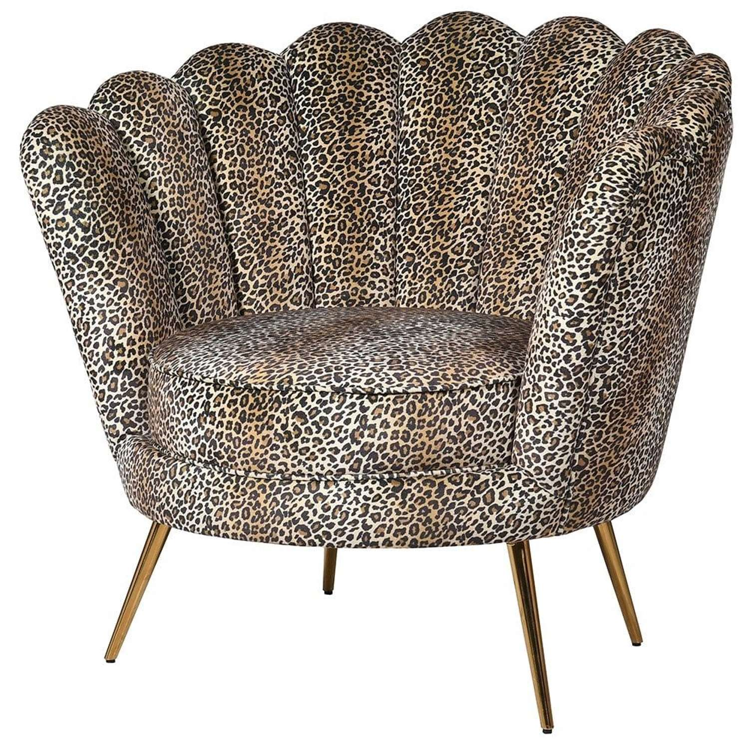 Sassy leopard print cocktail chair
