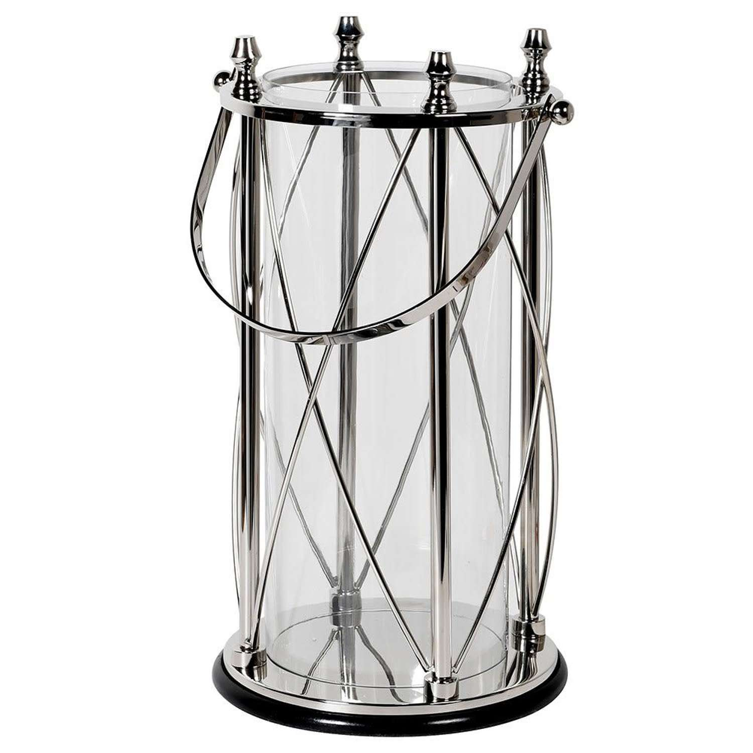 Large Stainless Steel & Glass Luxury Candle Lantern