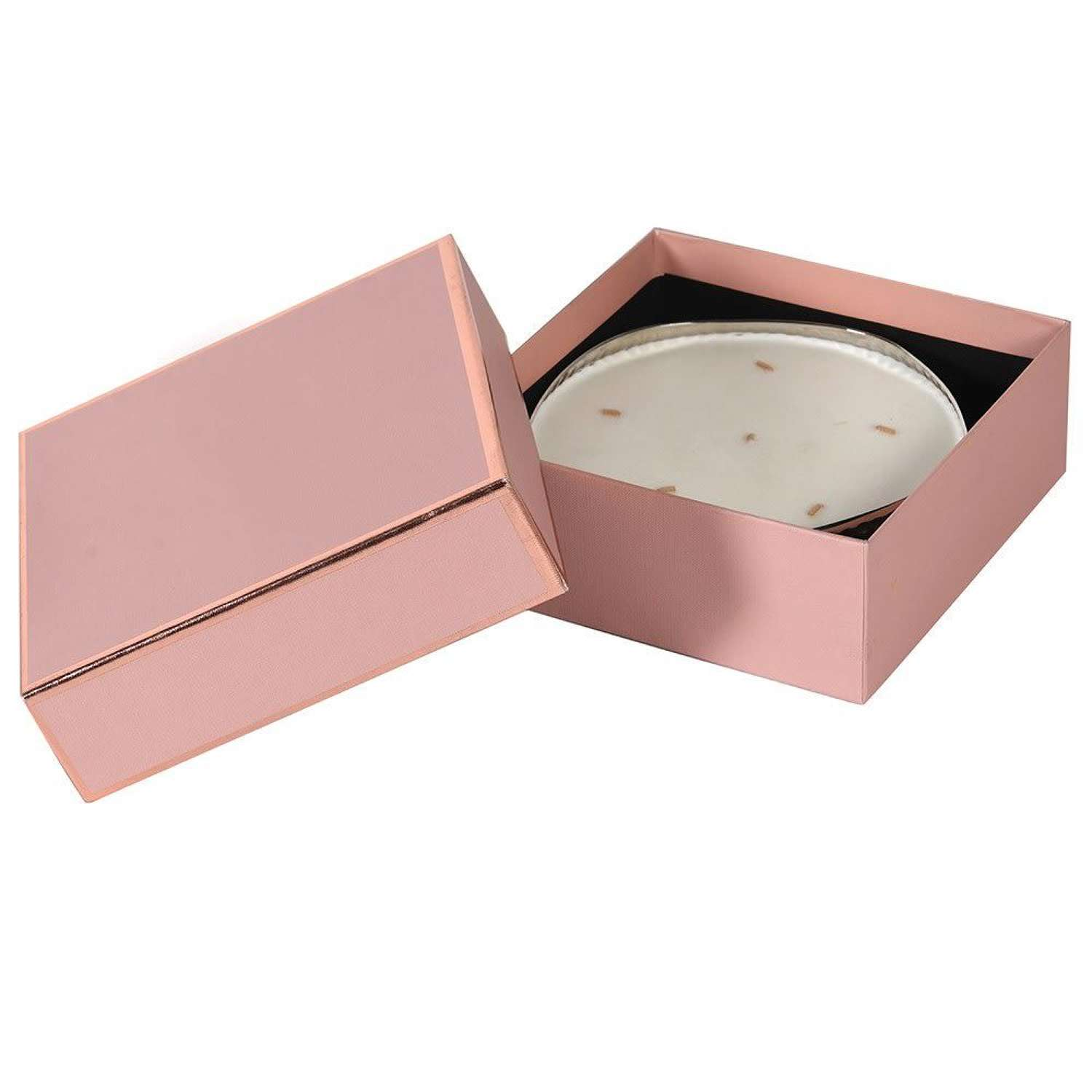 Round 6 wick, tuberose scented candle - gift boxed