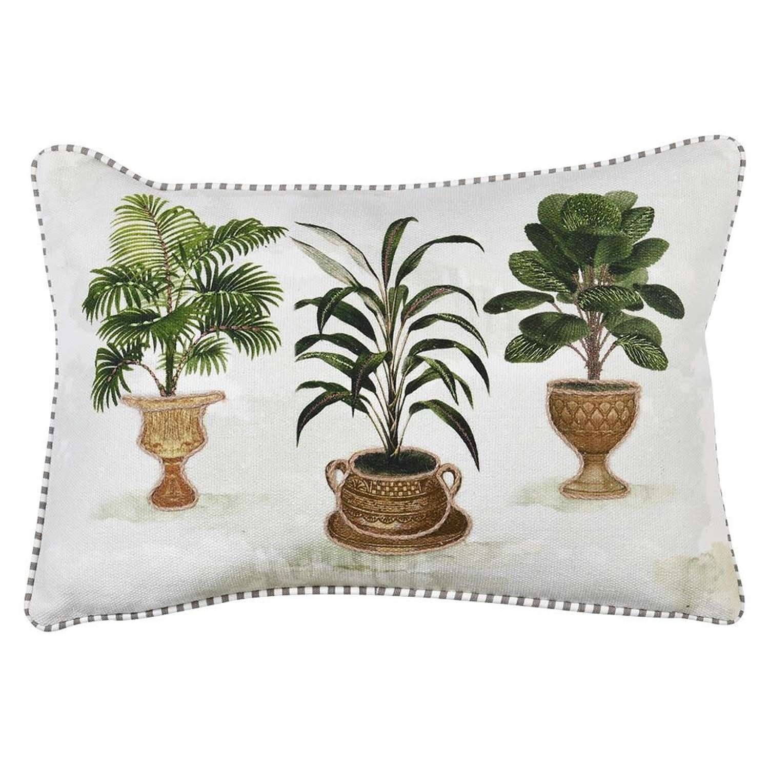 Colonial oblong cushion cover - trio of plants